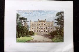 Morris Seats 1860's Antique Print. Elvaston Castle